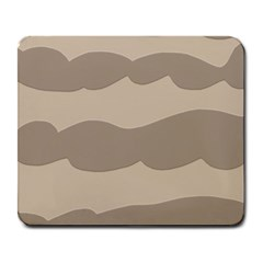 Pattern Wave Beige Brown Large Mousepads