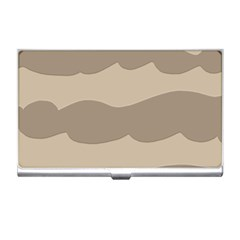 Pattern Wave Beige Brown Business Card Holders