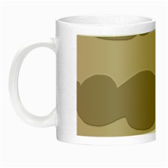 Pattern Wave Beige Brown Night Luminous Mugs