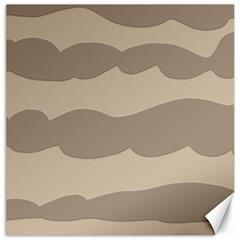 Pattern Wave Beige Brown Canvas 16  x 16