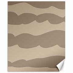 Pattern Wave Beige Brown Canvas 16  X 20