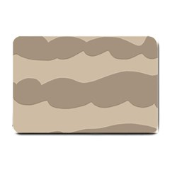 Pattern Wave Beige Brown Small Doormat