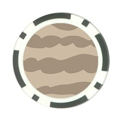 Pattern Wave Beige Brown Poker Chip Card Guard