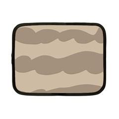 Pattern Wave Beige Brown Netbook Case (small)
