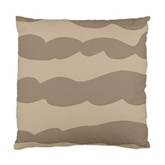Pattern Wave Beige Brown Standard Cushion Case (two Sides)
