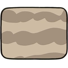 Pattern Wave Beige Brown Fleece Blanket (mini)