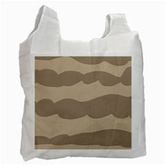 Pattern Wave Beige Brown Recycle Bag (Two Side)