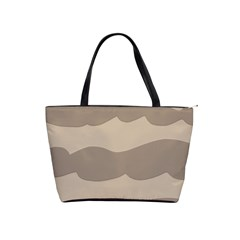 Pattern Wave Beige Brown Shoulder Handbags