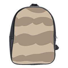Pattern Wave Beige Brown School Bags(large)