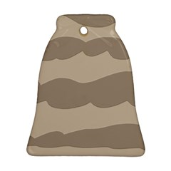 Pattern Wave Beige Brown Ornament (bell)