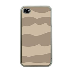 Pattern Wave Beige Brown Apple Iphone 4 Case (clear)
