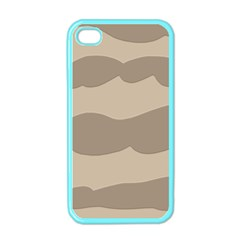 Pattern Wave Beige Brown Apple Iphone 4 Case (color)