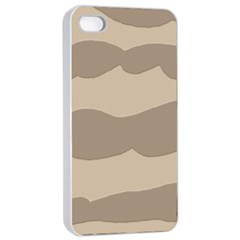 Pattern Wave Beige Brown Apple Iphone 4/4s Seamless Case (white)