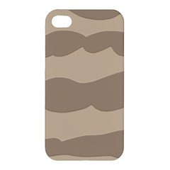 Pattern Wave Beige Brown Apple Iphone 4/4s Premium Hardshell Case