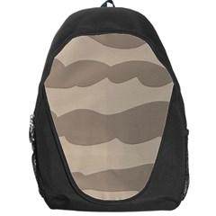 Pattern Wave Beige Brown Backpack Bag