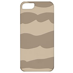 Pattern Wave Beige Brown Apple Iphone 5 Classic Hardshell Case