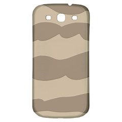 Pattern Wave Beige Brown Samsung Galaxy S3 S Iii Classic Hardshell Back Case