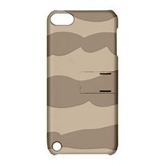 Pattern Wave Beige Brown Apple Ipod Touch 5 Hardshell Case With Stand