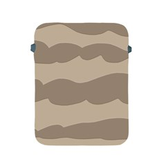 Pattern Wave Beige Brown Apple Ipad 2/3/4 Protective Soft Cases