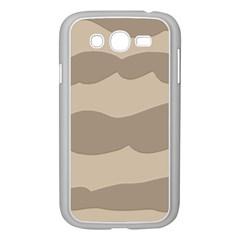 Pattern Wave Beige Brown Samsung Galaxy Grand Duos I9082 Case (white)