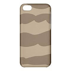 Pattern Wave Beige Brown Apple Iphone 5c Hardshell Case