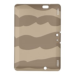 Pattern Wave Beige Brown Kindle Fire Hdx 8 9  Hardshell Case