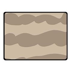 Pattern Wave Beige Brown Double Sided Fleece Blanket (small)