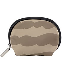 Pattern Wave Beige Brown Accessory Pouches (small)