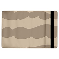 Pattern Wave Beige Brown Ipad Air Flip