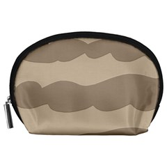 Pattern Wave Beige Brown Accessory Pouches (large)