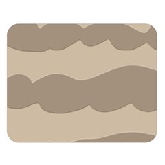 Pattern Wave Beige Brown Double Sided Flano Blanket (large)