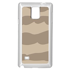 Pattern Wave Beige Brown Samsung Galaxy Note 4 Case (white)