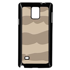 Pattern Wave Beige Brown Samsung Galaxy Note 4 Case (black)