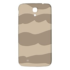Pattern Wave Beige Brown Samsung Galaxy Mega I9200 Hardshell Back Case