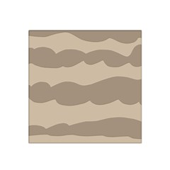 Pattern Wave Beige Brown Satin Bandana Scarf