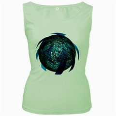 Photo Album Photo Montage About Women s Green Tank Top