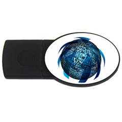Photo Album Photo Montage About Usb Flash Drive Oval (2 Gb)