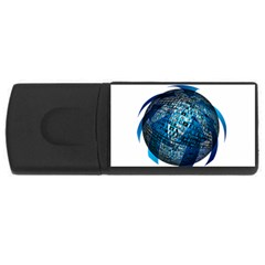 Photo Album Photo Montage About Usb Flash Drive Rectangular (4 Gb)