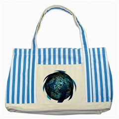 Photo Album Photo Montage About Striped Blue Tote Bag
