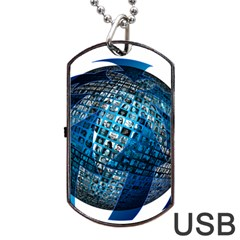 Photo Album Photo Montage About Dog Tag Usb Flash (two Sides)