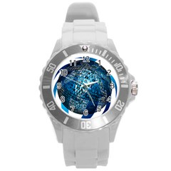 Photo Album Photo Montage About Round Plastic Sport Watch (l)
