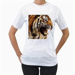Royal Tiger National Park Women s T Shirt (white) (two Sided)