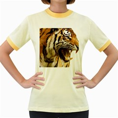 Royal Tiger National Park Women s Fitted Ringer T Shirts