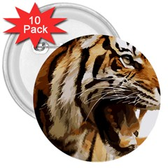 Royal Tiger National Park 3  Buttons (10 Pack)