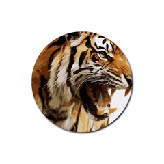 Royal Tiger National Park Rubber Round Coaster (4 Pack)