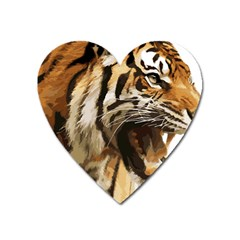 Royal Tiger National Park Heart Magnet