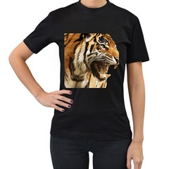 Royal Tiger National Park Women s T Shirt (black) (two Sided)