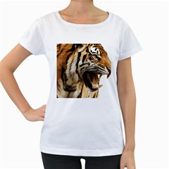 Royal Tiger National Park Women s Loose Fit T Shirt (white)