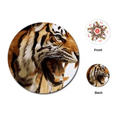 Royal Tiger National Park Playing Cards (round)