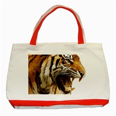 Royal Tiger National Park Classic Tote Bag (red)